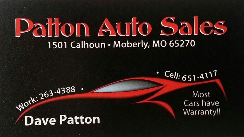 Patton Auto Logo, contact: 263-4388, 651-4117